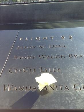 9/11 Memorial Flight 93.