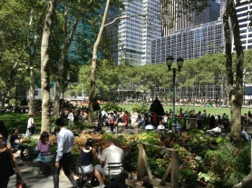 Bryant Park at Lunchtime.